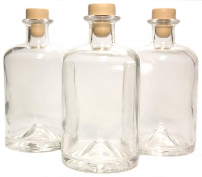 3 apotheker flaschen 0 5l leer f r essig l schnaps lik r. Black Bedroom Furniture Sets. Home Design Ideas